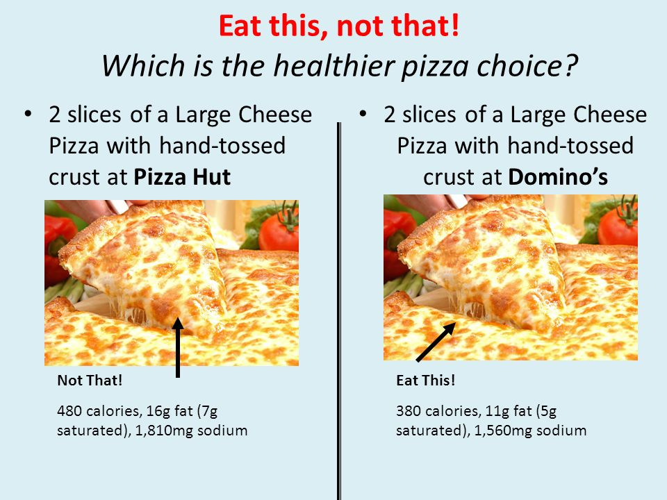 Which Is The Healthier Pizza Choice