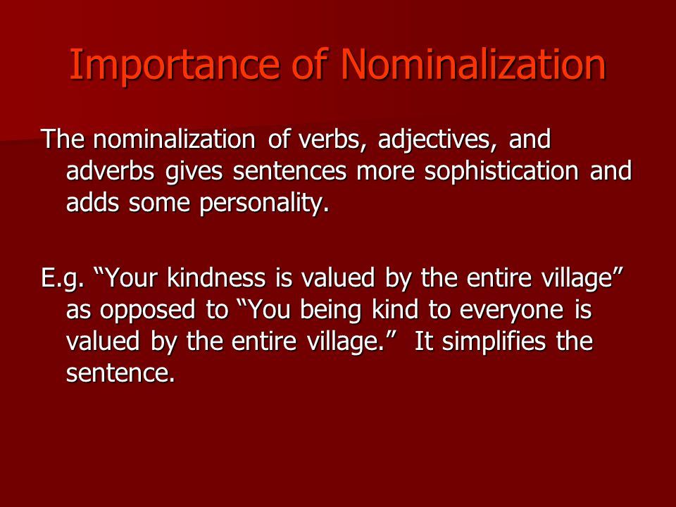 What Is A Nominalization Ppt Video Online Download