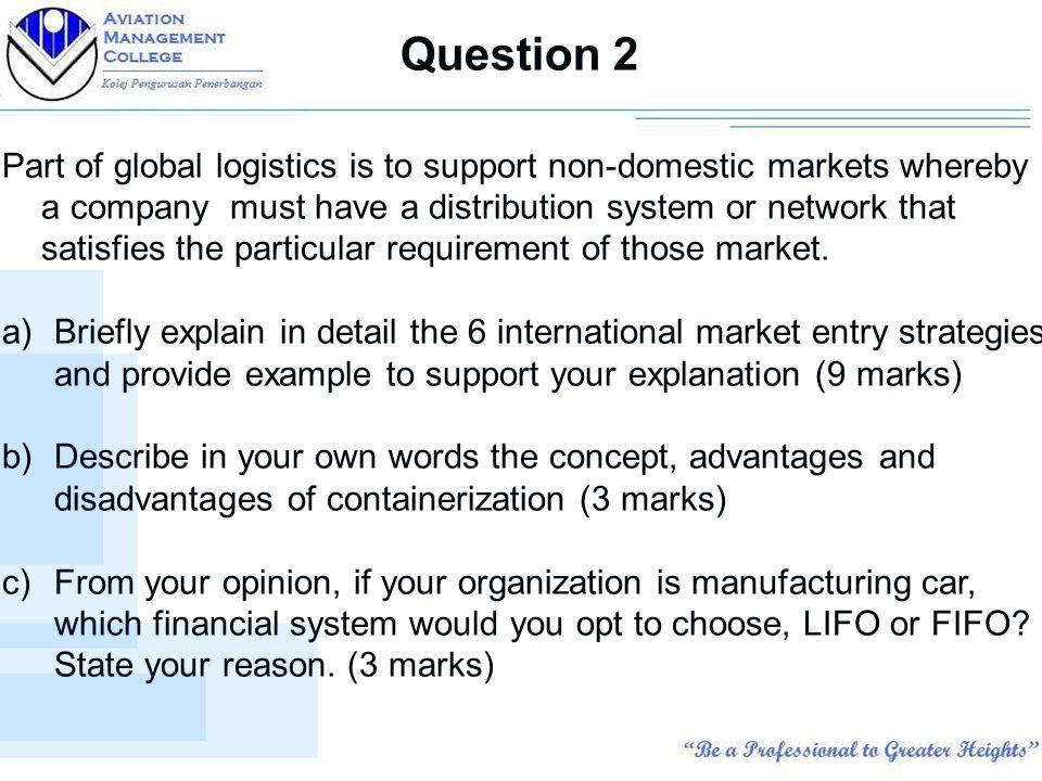 Chapter 6: Global Logistics - ppt video online download
