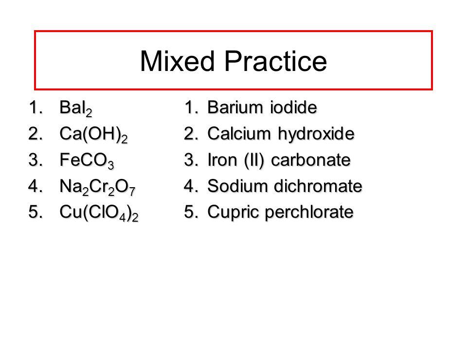 Naming & Writing Formulas - ppt video online download