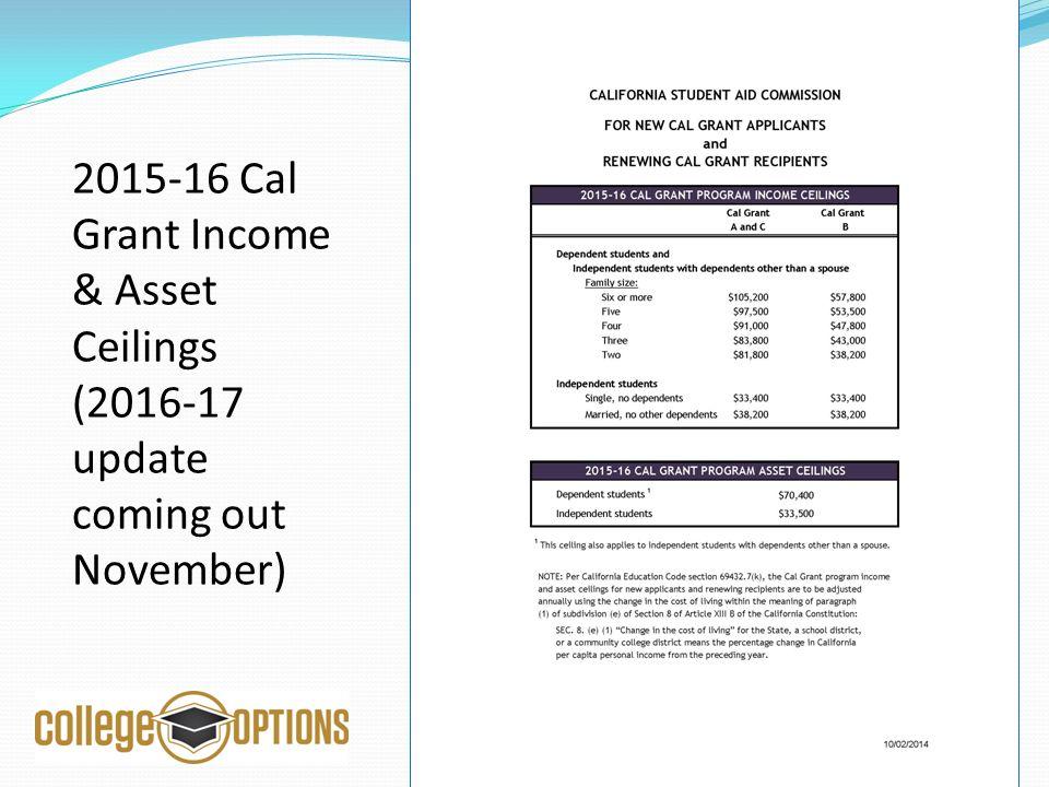 Cal Grant Program Income Ceilings Snakepress Com