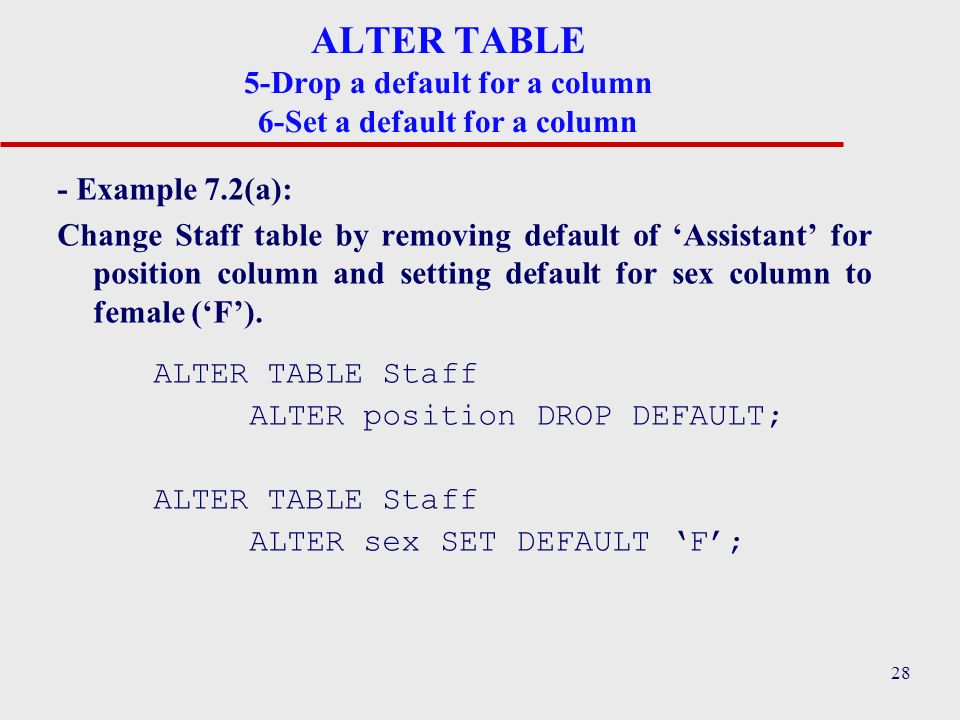 Exciting Alter Table Set Default Contemporary - Best Image Engine ...
