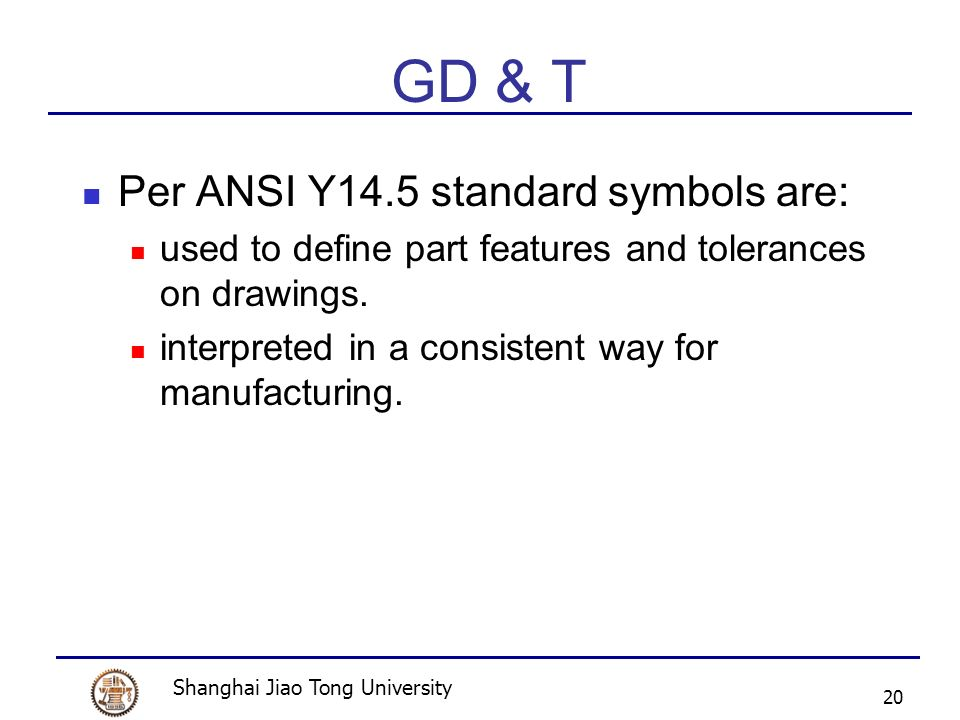 Geometric Dimensioning Tolerancing Gd T Ppt Video Online