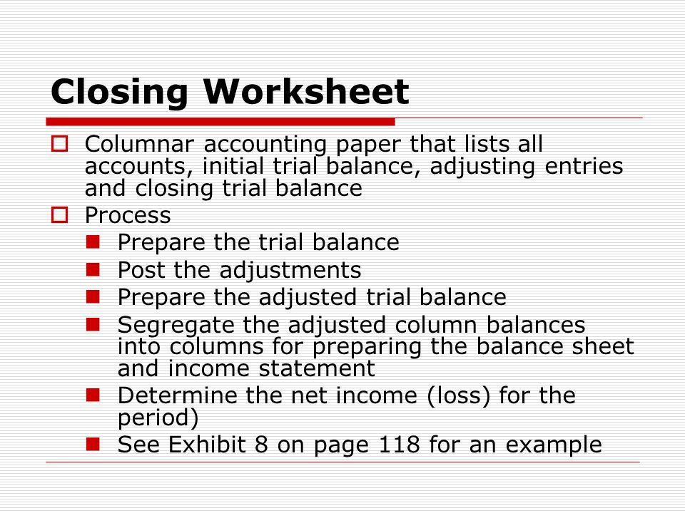 Chapter 4 The Accounting Cycle Ppt Video Online Download. Closing Worksheet Columnar Accounting Paper That Lists All Accounts Initial Trial Balance Adjusting Entries. Worksheet. Adjusted Trial Balance Worksheet At Mspartners.co