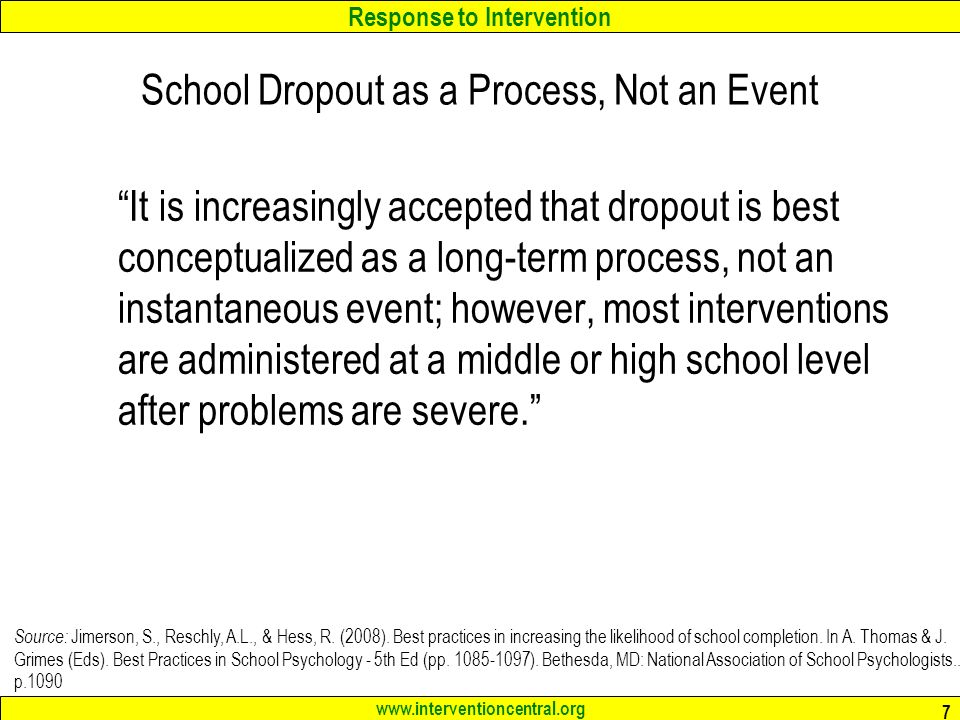 School Dropout as a Process, Not an Event