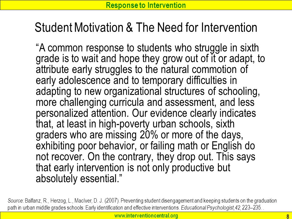 Student Motivation & The Need for Intervention