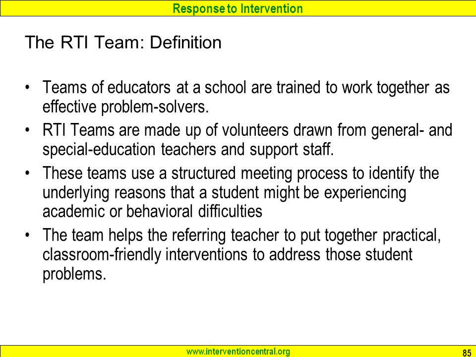The RTI Team: Definition