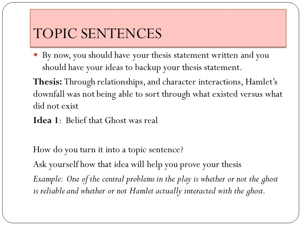 hamlet thesis statement examples