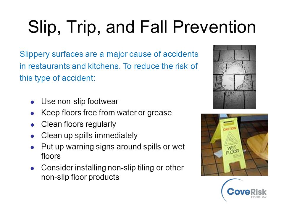Kitchen Safety Safety Awareness For Everyone from Cove Risk Services ...