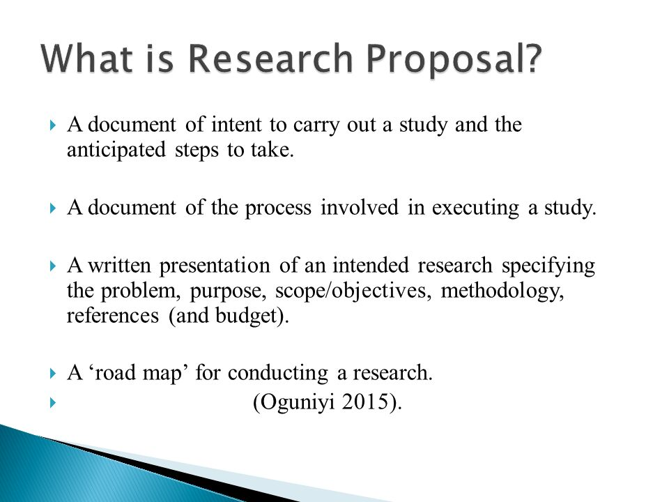 steps of a research proposal