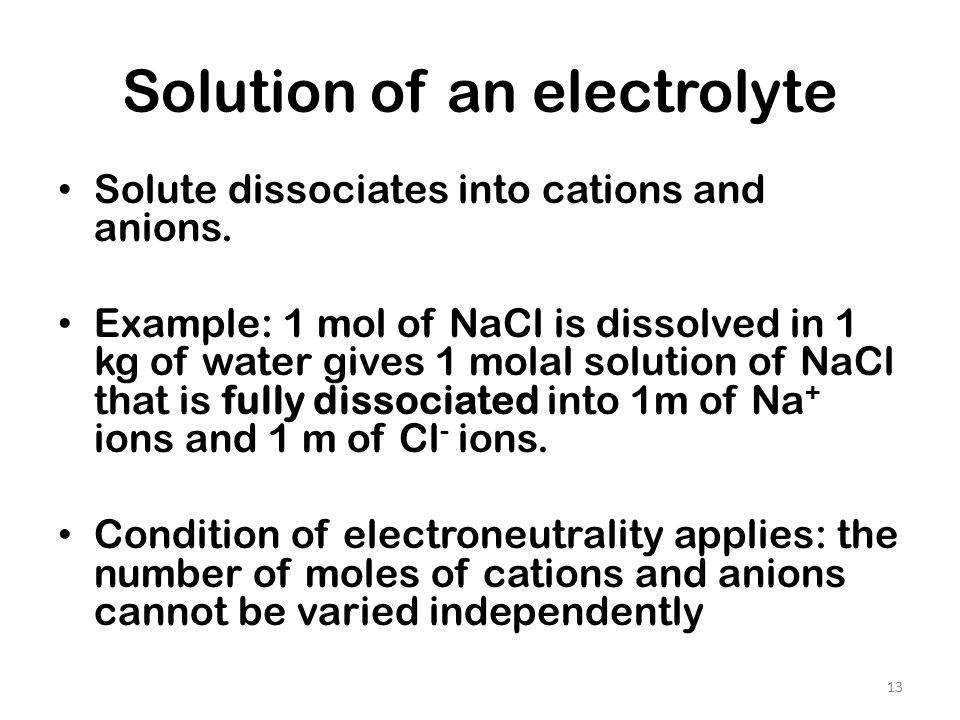 Electrolyte Solutions Ppt Video Online Download