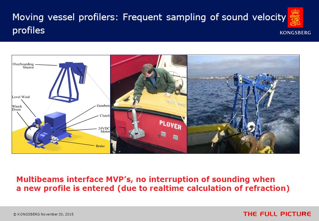 Moving vessel profilers: Frequent sampling of sound velocity profiles