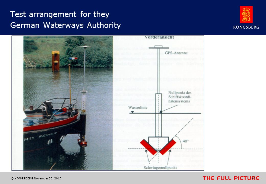 Test arrangement for they German Waterways Authority