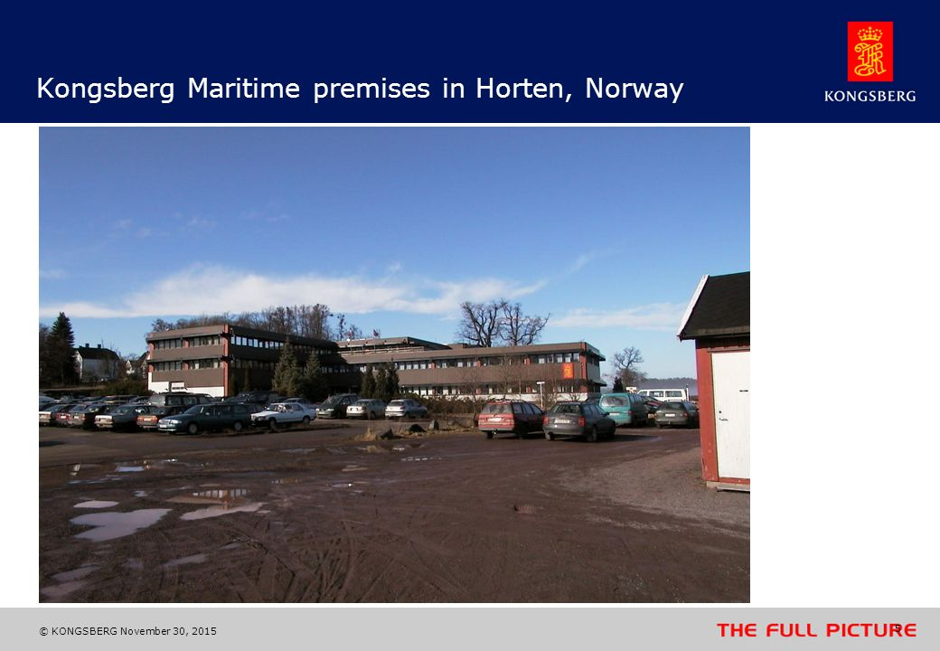 Kongsberg Maritime premises in Horten, Norway