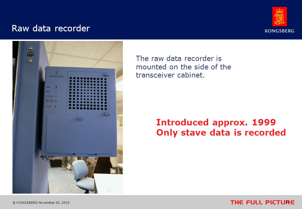 Only stave data is recorded