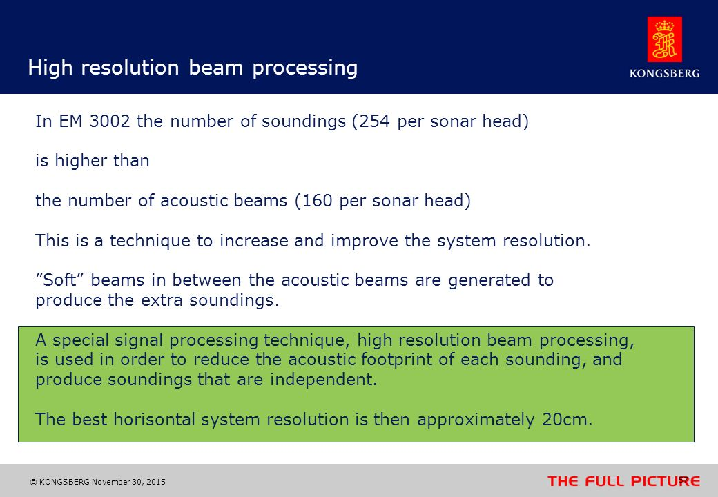 High resolution beam processing