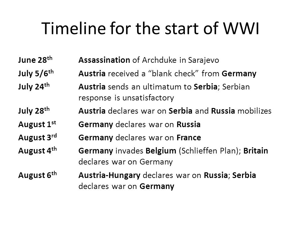 Image result for start of ww1 pic