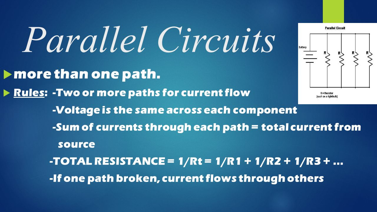 Electrical Energy In Circuits And Conductive Material Ppt Video Parallelcircuits Another Way To Connect Our Components 4 Parallel More Than One Path