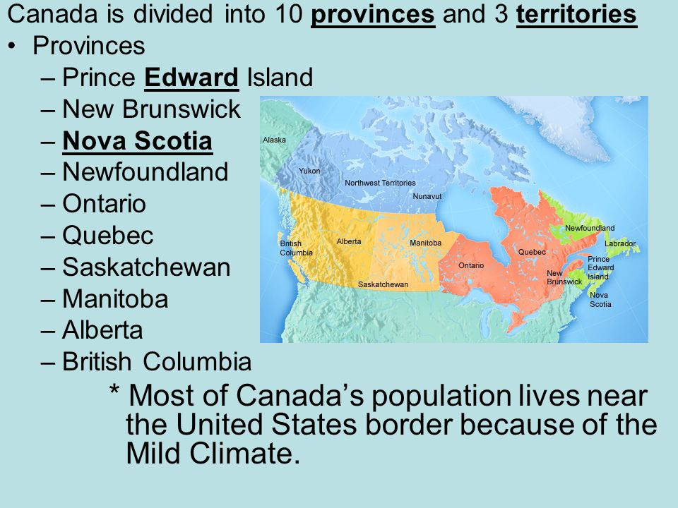 Map Of Canadas 3 Territories.Canada And United States Of America Ppt Download