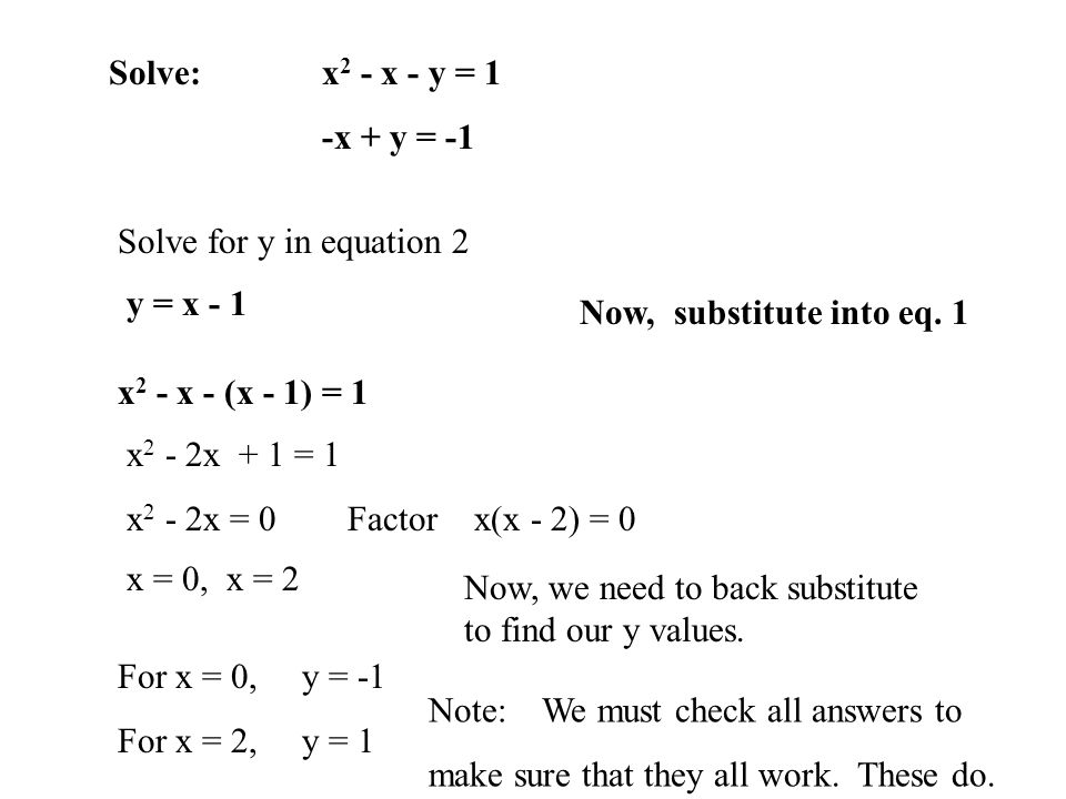 71 Linear And Nonlinear Systems Of Equations Ppt Download