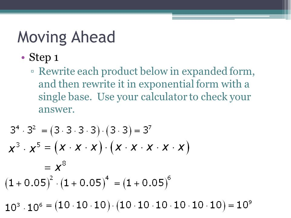 Lesson 63 Multiplication And Exponents Ppt Video Online Download