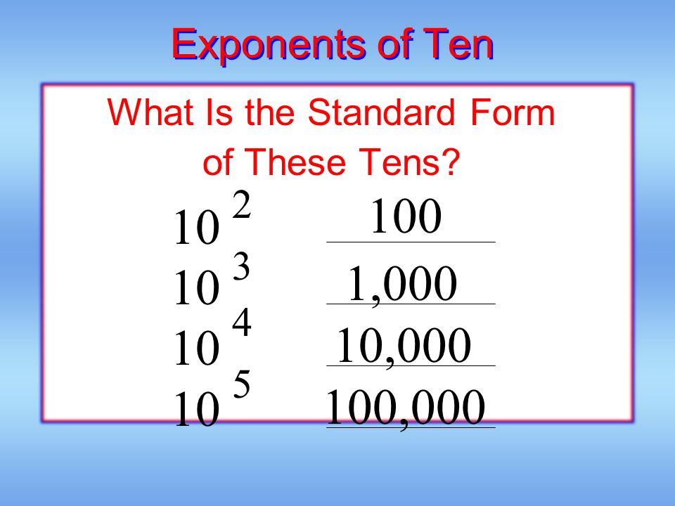 Using Exponents To Write Large Numbers Ppt Video Online Download