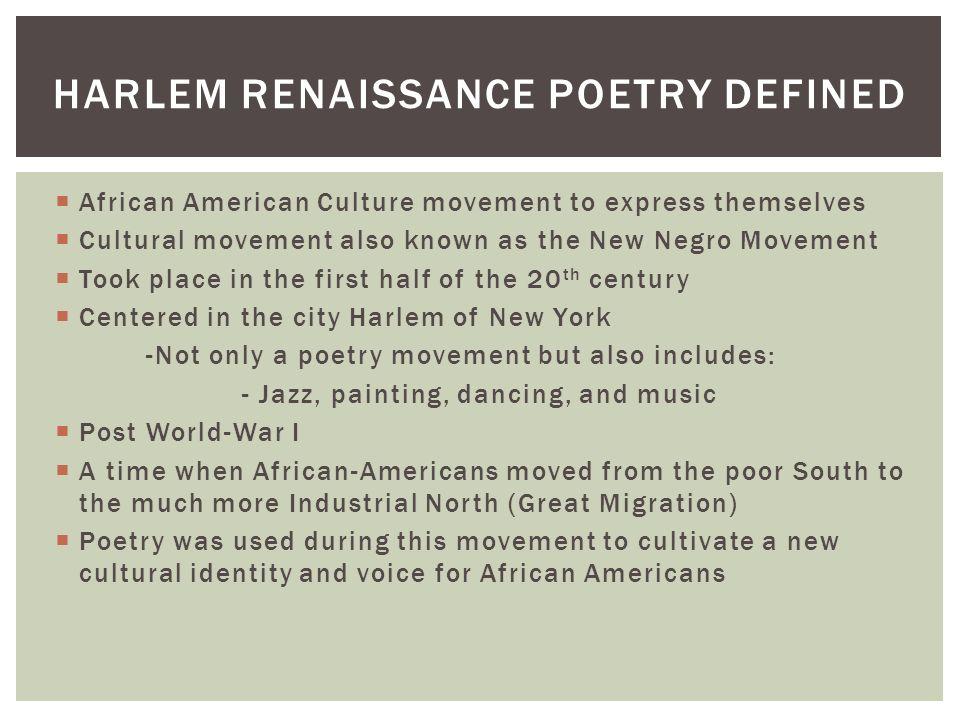 how to write a harlem renaissance poem