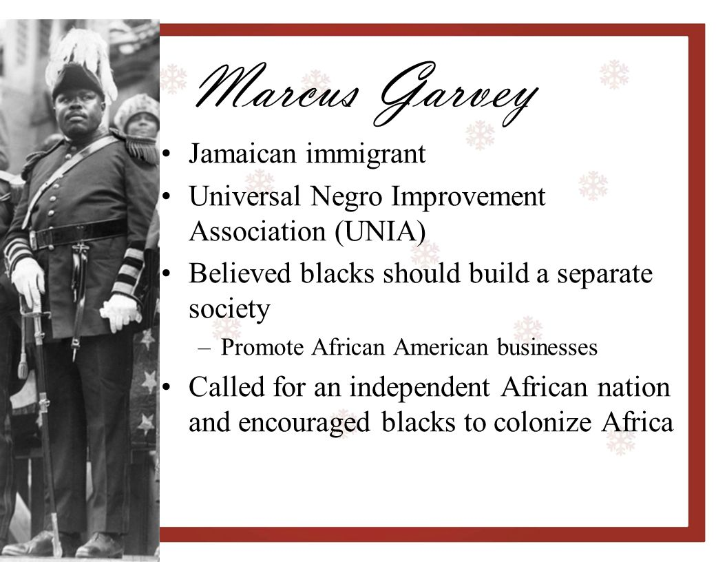 Marcus Garvey Jamaican immigrant