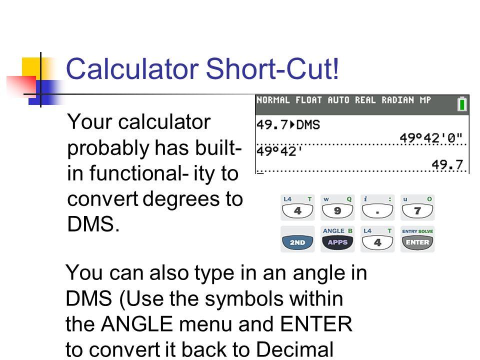 Angle measure conversion (dms/decimal form) youtube.