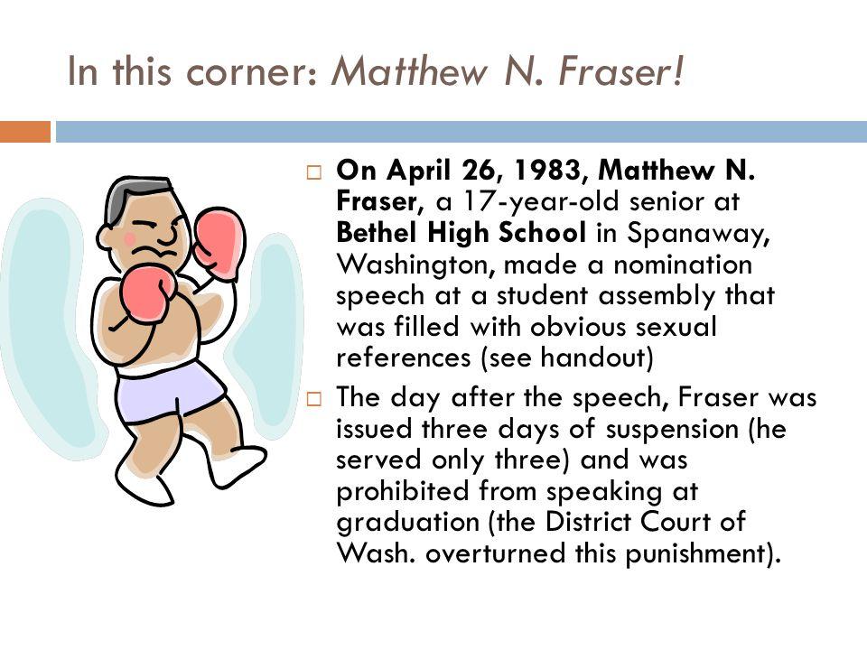 matthew n fraser speech