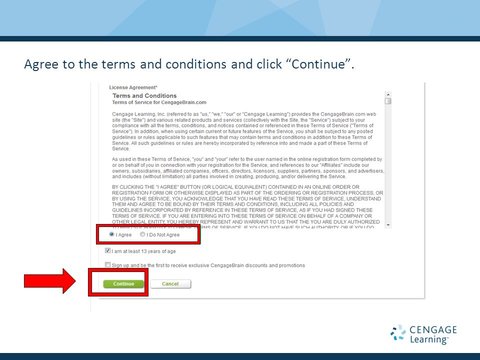 Walkthrough for coursemate new user registration ppt video 5 agree fandeluxe Image collections