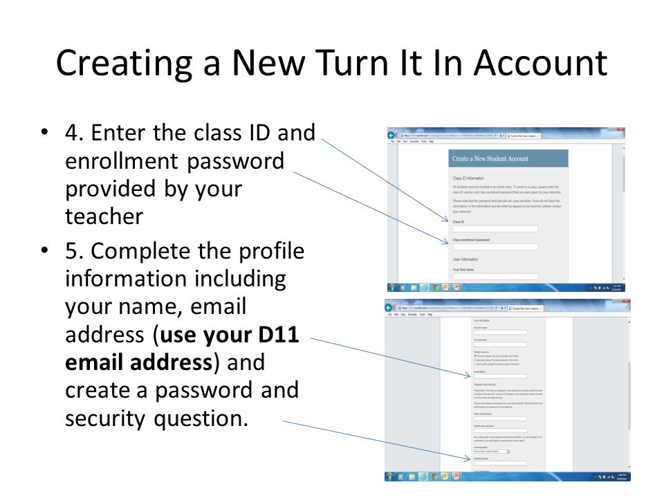 Creating a new Turn It In account - ppt download
