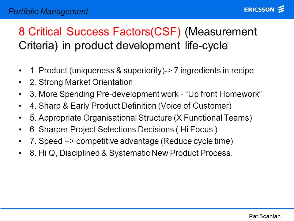 Ingredients Of Early Success >> 1 Product Uniqueness Superiority 7 Ingredients In Recipe