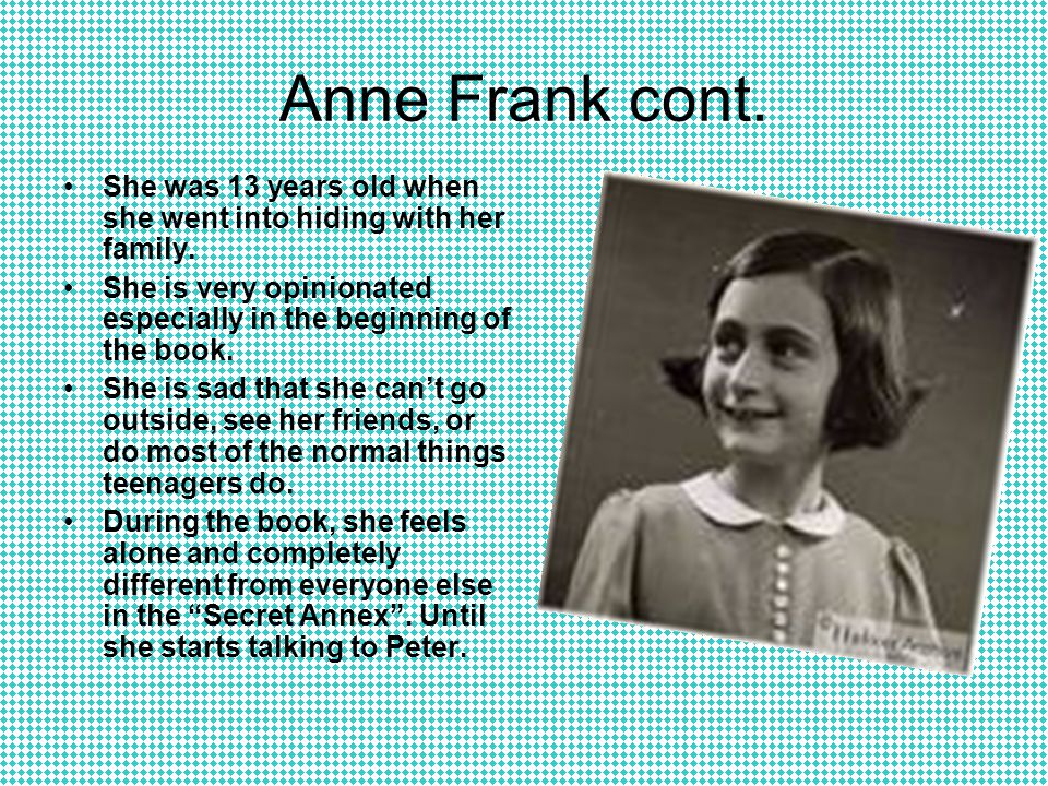 the beginning of the diary of anne frank