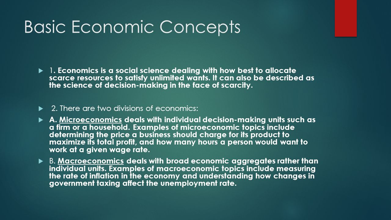 Chapter 1: The Basics of Economics - ppt video online download