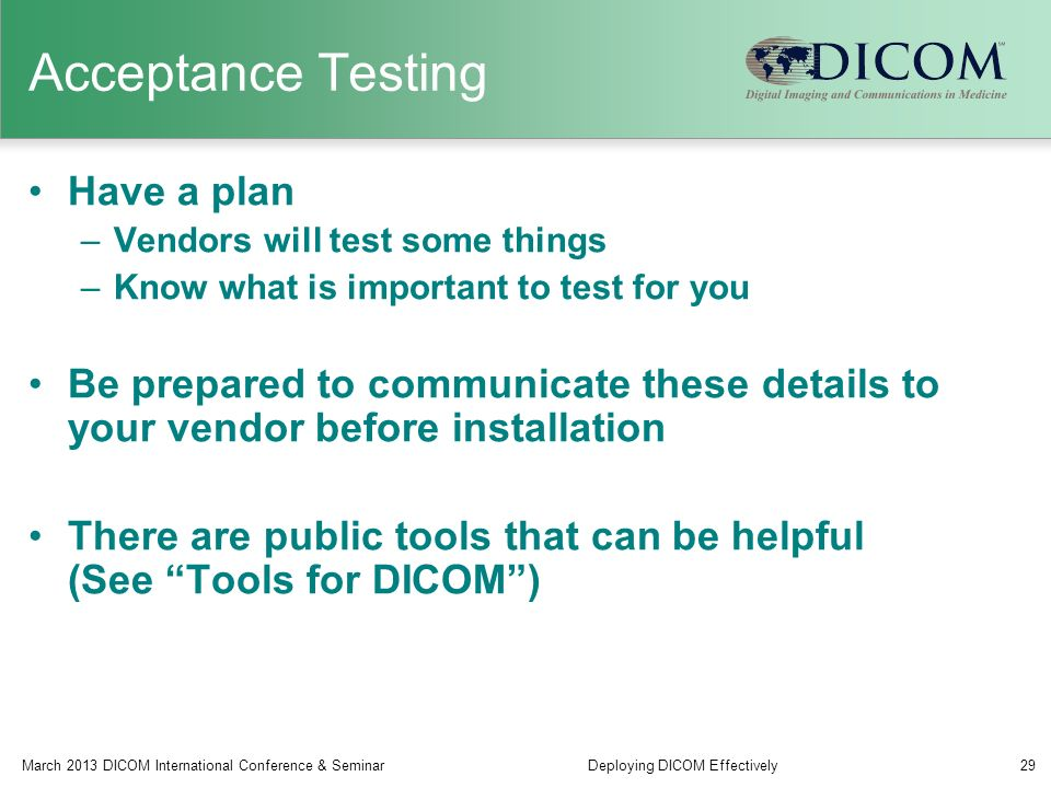 Dicom Test Tools