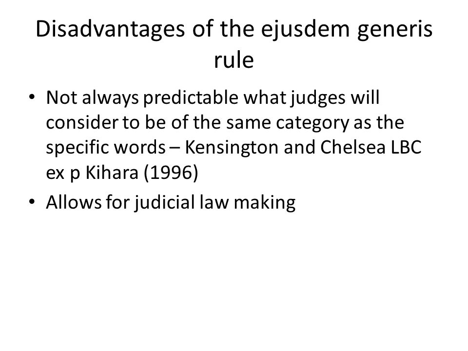 disadvantages of rule of law
