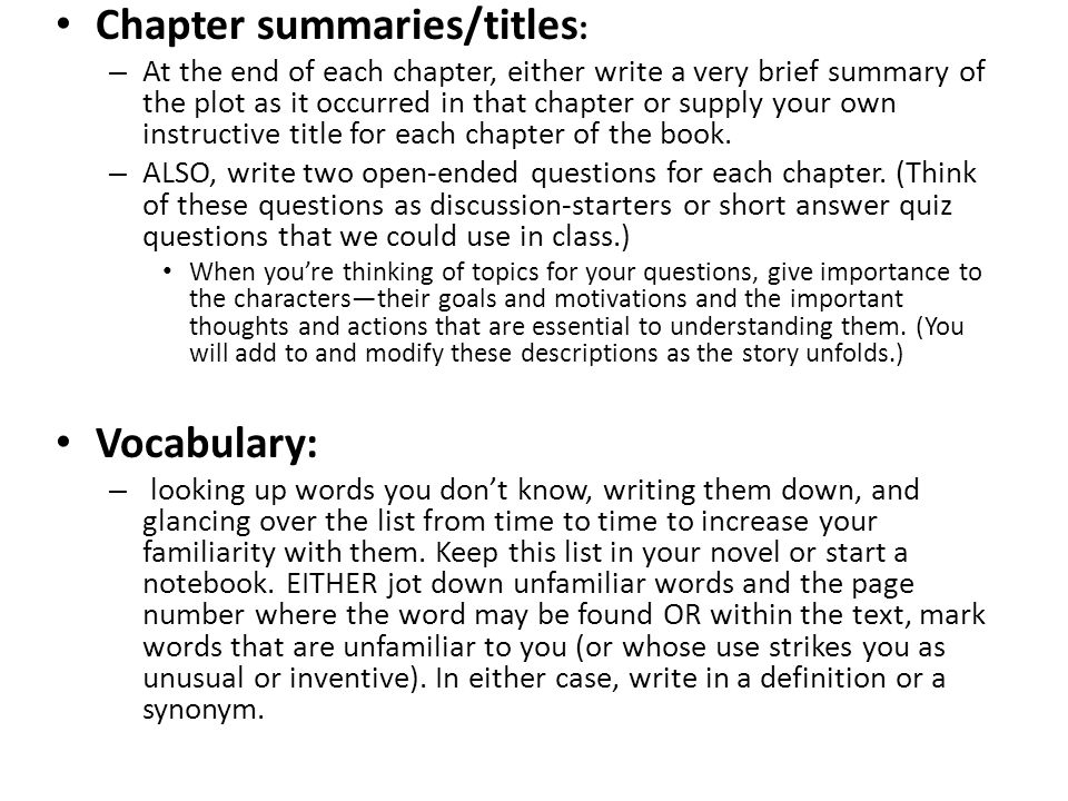how to end a book summary