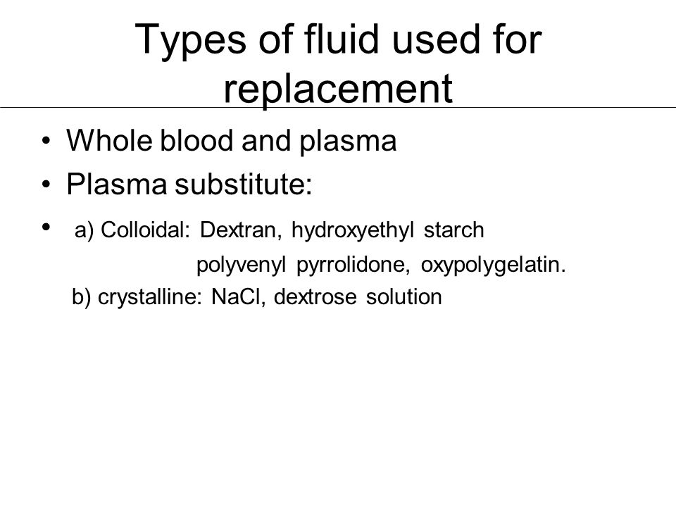 Blood and related products.