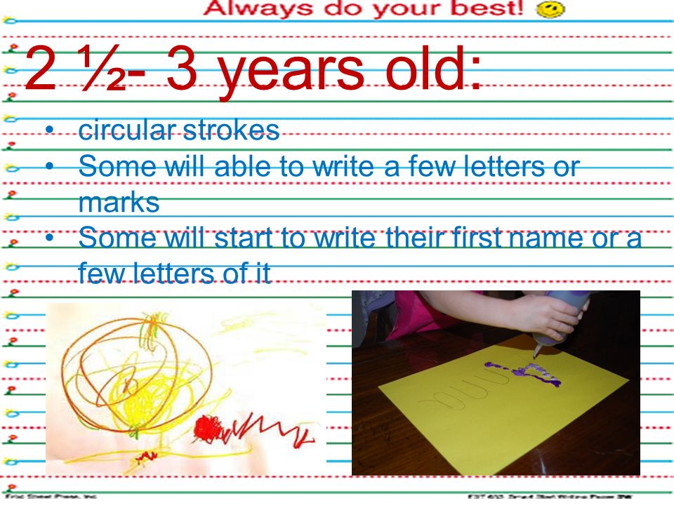Assessment tools for early writing ppt video online download 2 3 years old circular strokes expocarfo Gallery