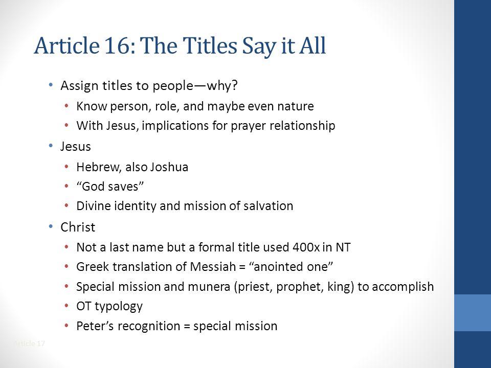 Jesus Christ's Mission is Revealed - ppt video online download