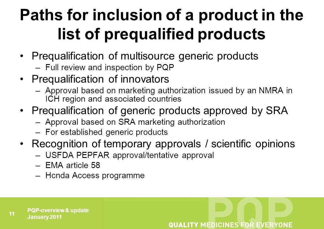 Prequalification of Medicines Overview & update - ppt download