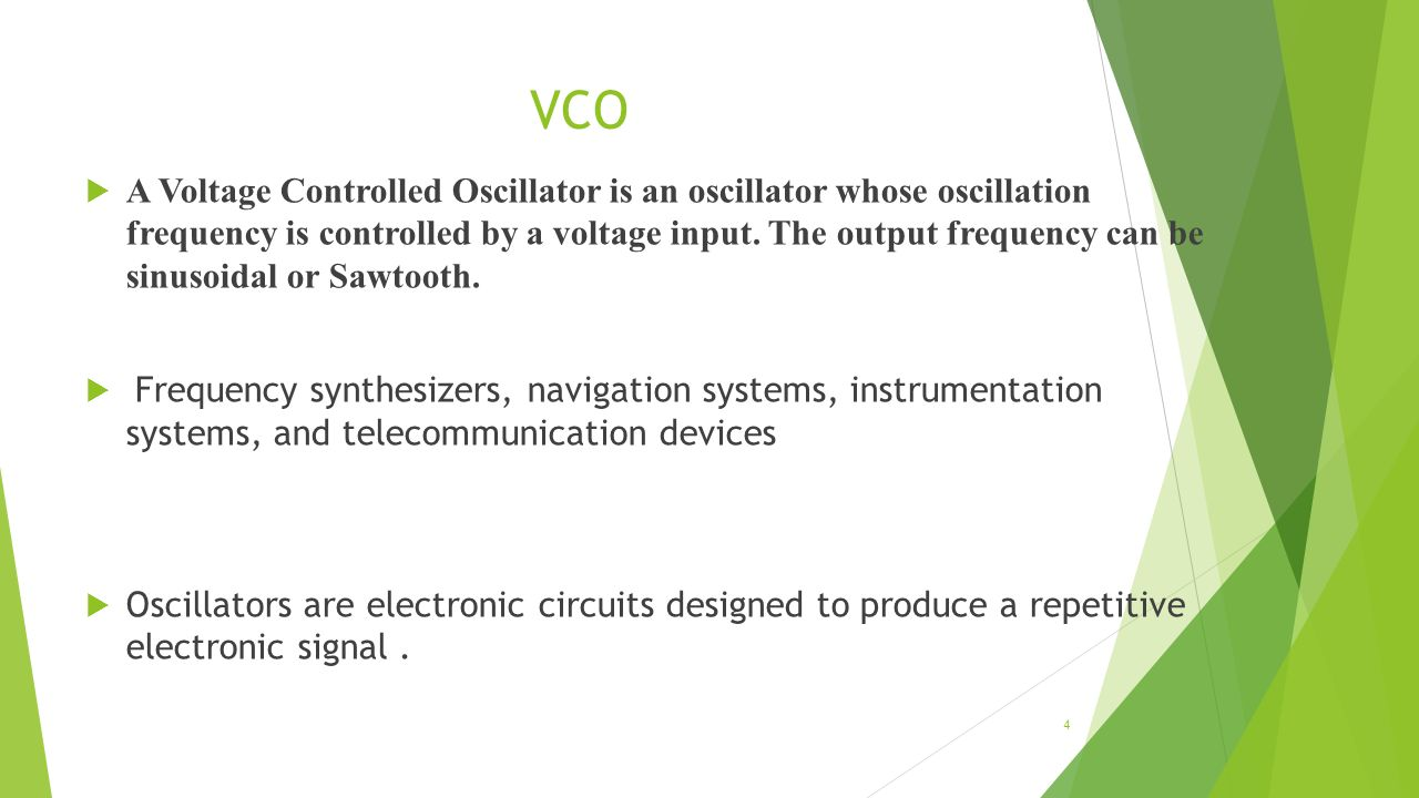 Voltage Controlled Oscillators Ppt Video Online Download Capacitors And Inductors 4 Vco A