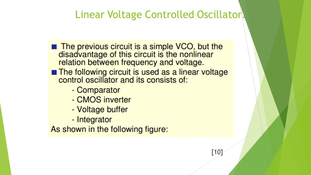 Voltage Controlled Oscillators Ppt Video Online Download Crystal Oscillator With Cmos Inverter Linear