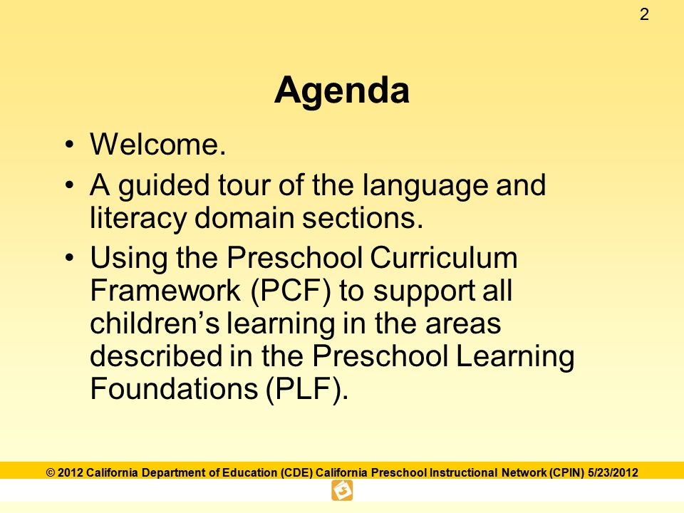 Language and literacy foundations framework ppt download 2 agenda welcome fandeluxe Choice Image