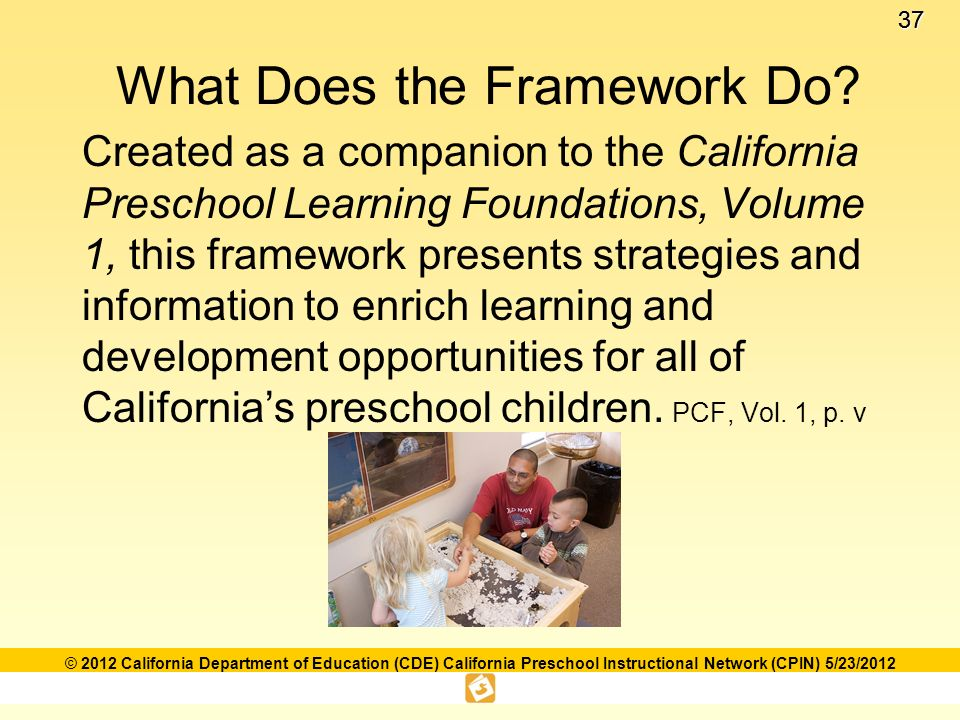 Language and literacy foundations framework ppt download 37 what does the framework do created as a companion to the california preschool learning foundations fandeluxe Choice Image