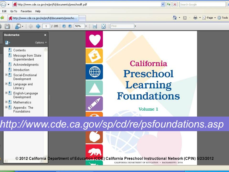 Language and literacy foundations framework ppt download the entire document is online at the california department of education web site you can 75 to purchase preschool learning foundations fandeluxe Choice Image