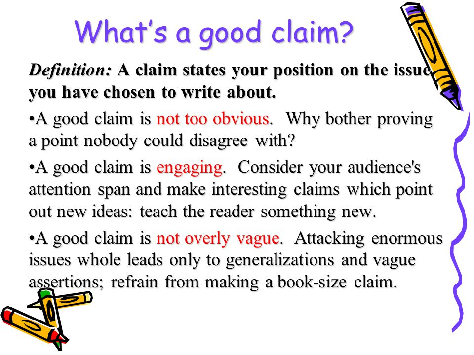 Formal argument requires a claim, convincing evidence, and a warrant ...