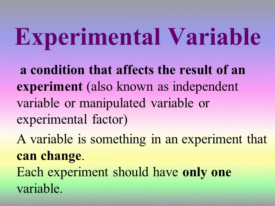 Experimental Variable