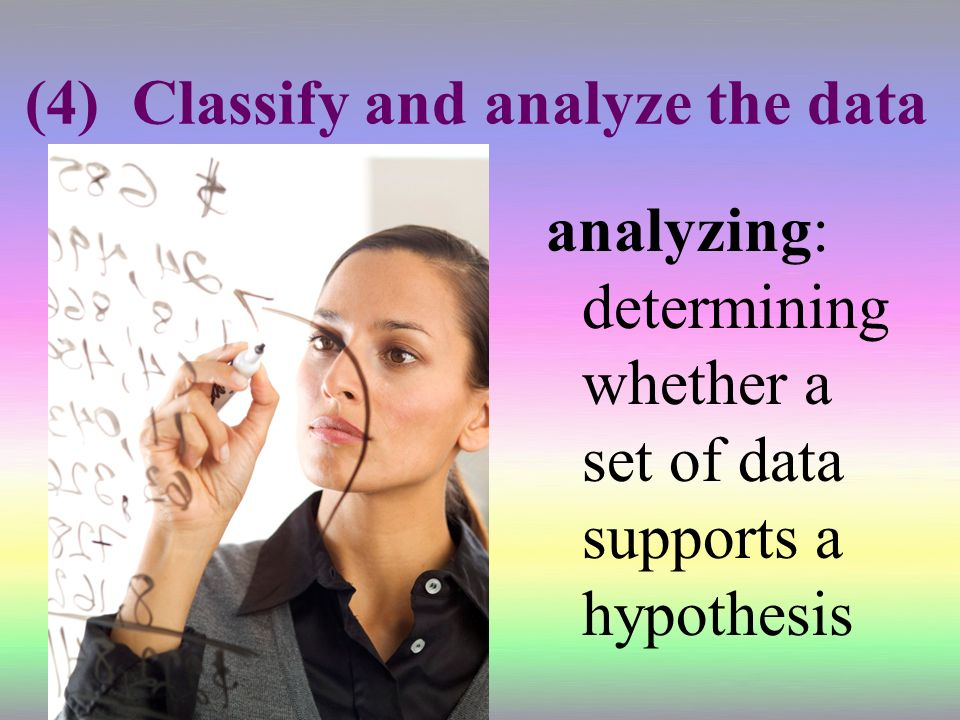 (4) Classify and analyze the data